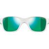 Julbo Turn Spectron 3CF Sunglasses Kids 4-8Y Shiny White/Fluorescent Green-Multilayer Green